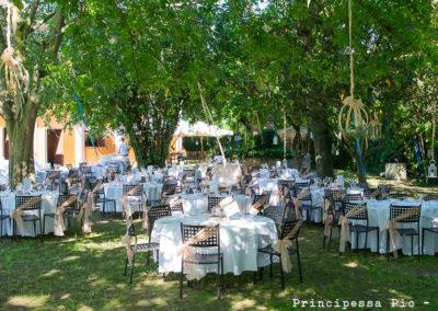 Allestimento giardino per matrimonio al ristorante principessa Pio di Ferrara