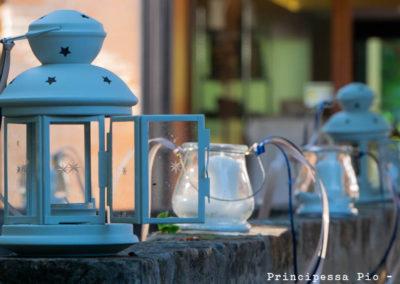 Particolare giardino ristorante Principessa Pio Ferrrara