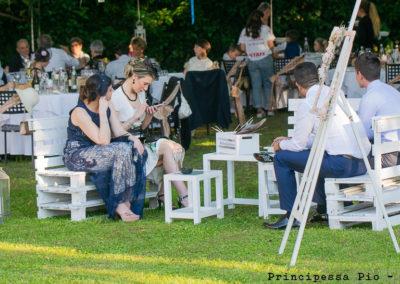 Particolare giardino al ristorante Principessa Pio di FErrara, matrimonio
