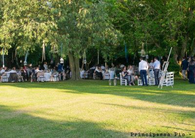 EGiardino per matrimonio al ristorante Principessa Pio di Ferrara, tavoli