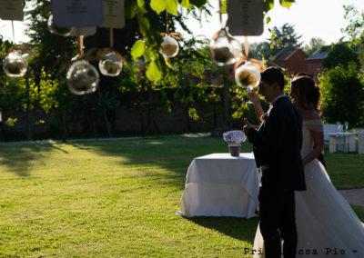 Esterno per pranzo matrimonio al ristorante Principessa Pio di Ferrara