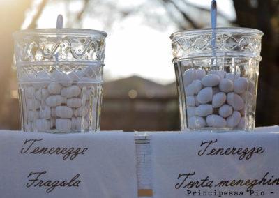 Particolare decorazione matrimonio al ristorante Principessa Pio Ferrara