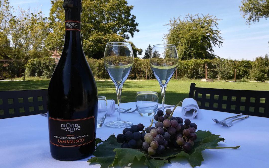 Lambrusco Monte delle vigne al ristorante Principessa Pio di Ferrara